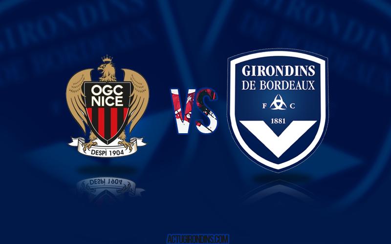 Affiche Nice vs Bordeaux (logos)