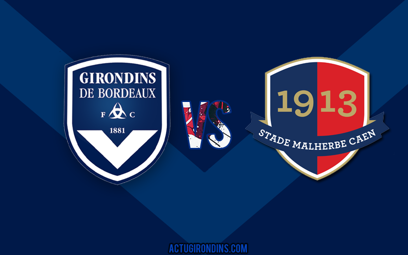 Affiche Bordeaux vs Caen (logos)