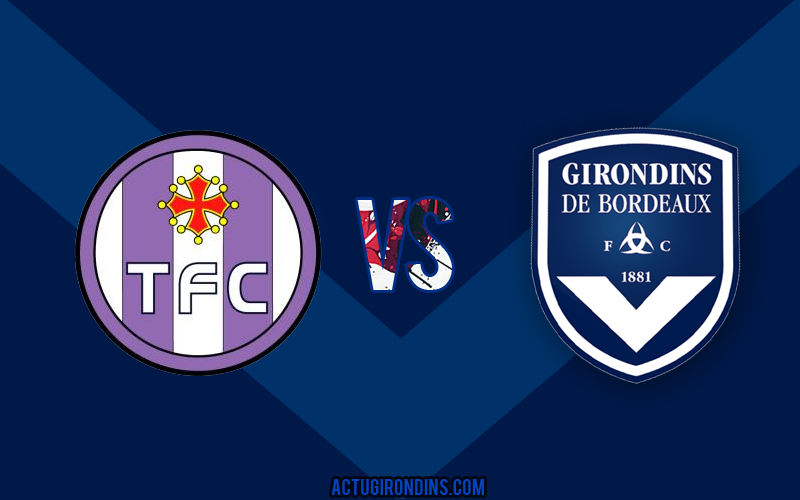 Affiche Toulouse vs Bordeaux (logos)