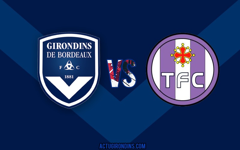 Affiche Bordeaux vs Toulouse (logos)