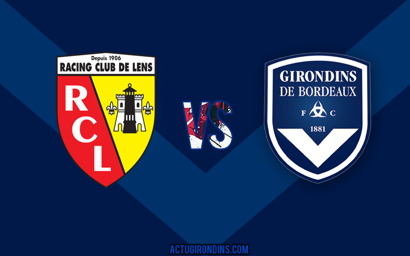 Affiche Lens vs Bordeaux (logos)