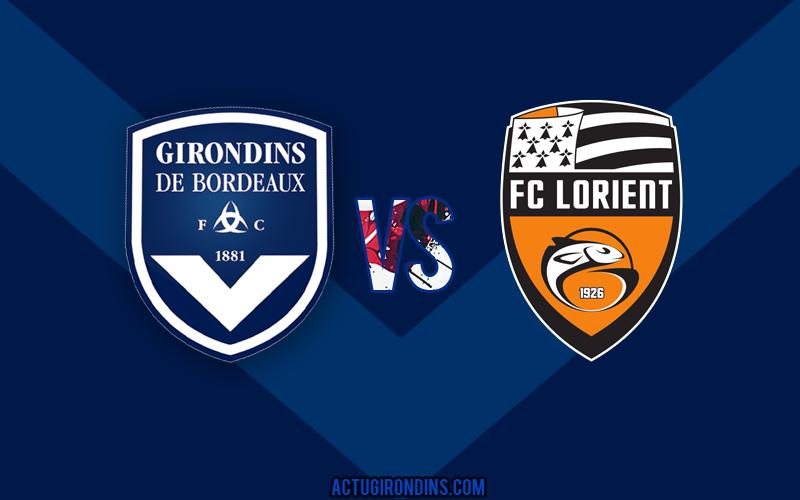 Affiche Bordeaux vs Lorient (logos)