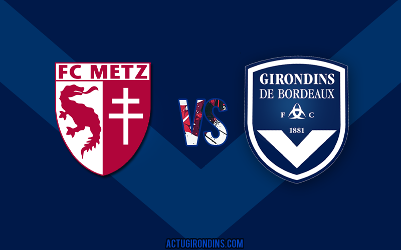 Affiche Metz vs Bordeaux (logos)