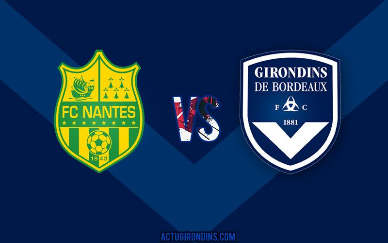 Affiche Nantes vs Bordeaux (logos)