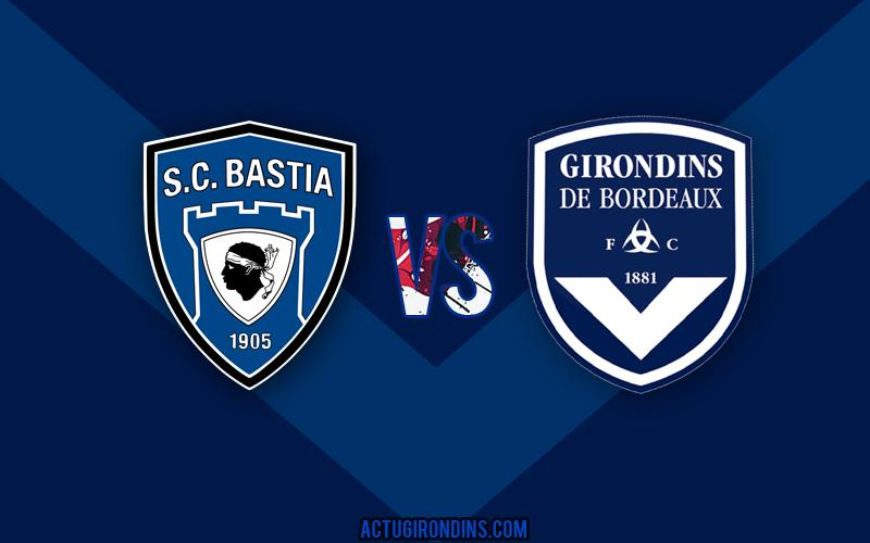 Affiche Bastia vs Bordeaux (logos)
