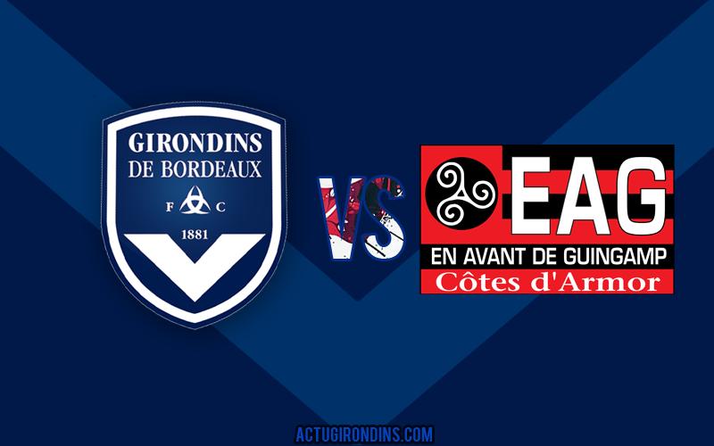 Affiche Bordeaux vs Guingamp (logos)