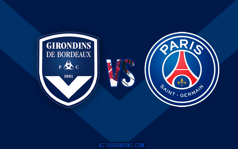 Affiche Bordeaux vs Paris (logos)