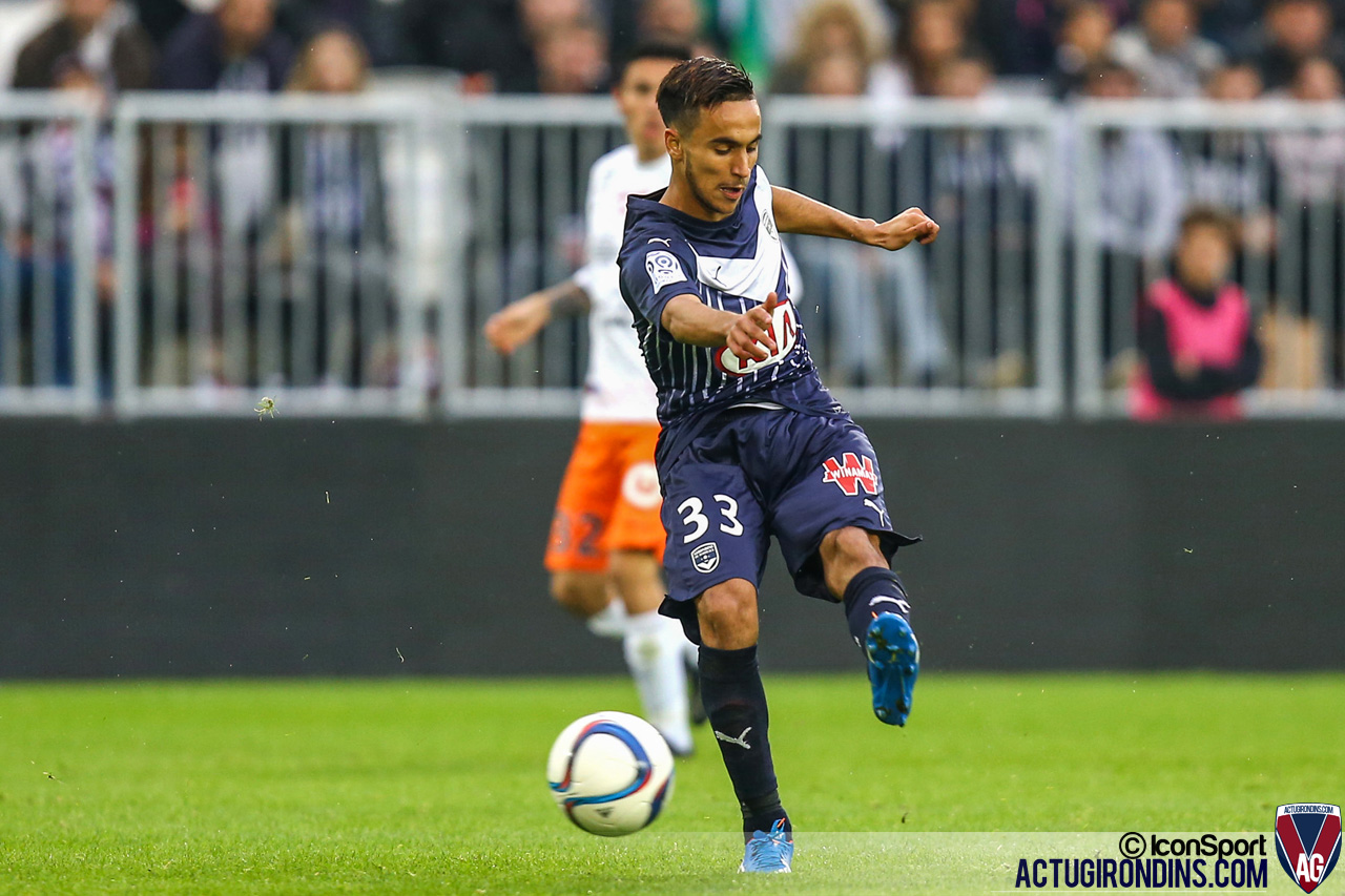 Adam Ounas - (18.10.2015 - Bordeaux / Montpellier - 10eme journee de Ligue1)