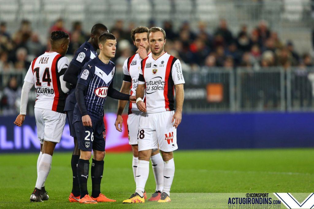 Valere Germain / Frederic Guilbert - (19.02.2016 - Girondins Bordeaux / OGC Nice - 27eme journee de Ligue 1)